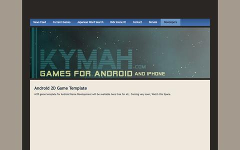Screenshot of Developers Page kymah.com - Developers - Kymah, LLC - captured Oct. 6, 2014