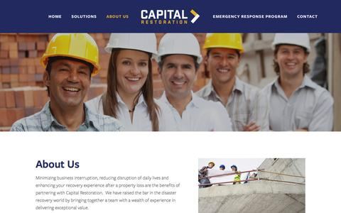 Screenshot of About Page capital-ga.com - About Us — Capital Restoration - captured Jan. 25, 2016