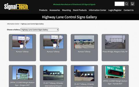 Highway Lane Control Signs Gallery |  Information Center | Signal-Tech