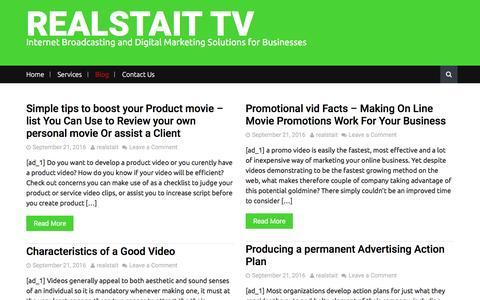 Screenshot of Blog realstait.tv - Blog – REALSTAIT TV - captured Nov. 29, 2016