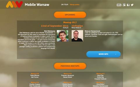 Screenshot of Home Page mobile-warsaw.pl - Mobile Warsaw - captured Oct. 7, 2014
