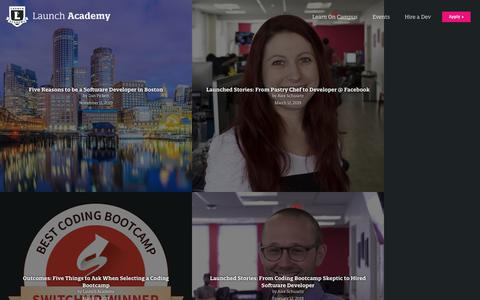 Screenshot of Blog launchacademy.com - Blog - Launch Academy - captured Nov. 13, 2019