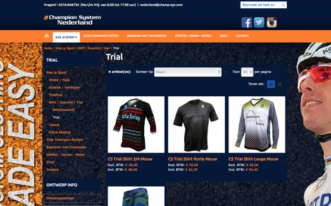 Screenshot of Trial Page champ-sysnederland.nl - Trial - BMX / Downhill / Trial - Kies je Sport - captured May 21, 2016