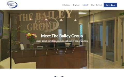 Screenshot of About Page mbaileygroup.com - About Us   The Bailey Group - captured Nov. 19, 2018