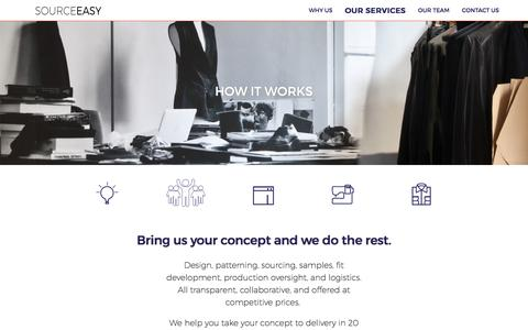 Screenshot of Services Page sourceeasy.com - SOURCEEASY | Build your brand. Leave the manufacturing to us. - captured March 3, 2017
