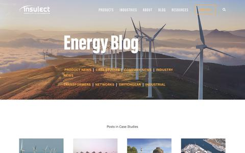 Screenshot of Case Studies Page insulect.com - Blog — Insulect - captured Oct. 12, 2018