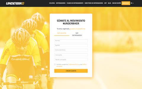 Screenshot of Signup Page underbike.com - Register - Underbike - captured Nov. 28, 2016