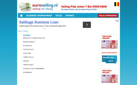 Screenshot of Contact Page euroveiling.nl - Contact - captured June 18, 2016