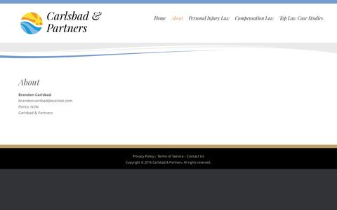 Screenshot of About Page acecarlsbad.com - About – Carlsbad & Partners - captured Nov. 20, 2016