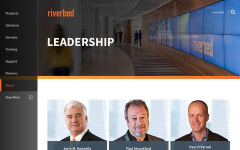 Screenshot of Team Page riverbed.com - Leadership | Riverbed | US - captured Dec. 16, 2016