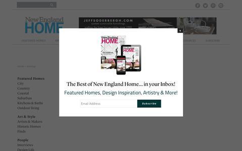 Screenshot of Site Map Page nehomemag.com - Sitemap - New England Home Magazine - captured Dec. 3, 2016