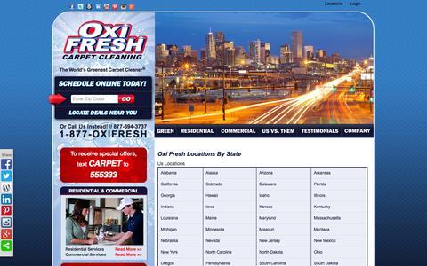 Screenshot of Locations Page oxifresh.com - Oxi Fresh Locations By State | Oxi Fresh - captured Oct. 26, 2014