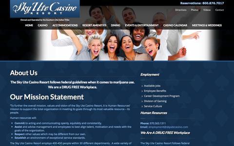 Screenshot of Jobs Page skyutecasino.com - Employment Opportunities  | Sky Ute Casino Resort - captured Oct. 26, 2014