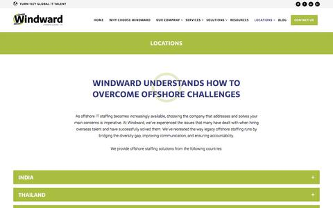 Screenshot of Locations Page windwardx.com - LOCATIONS – Windward Systems - captured Oct. 27, 2017