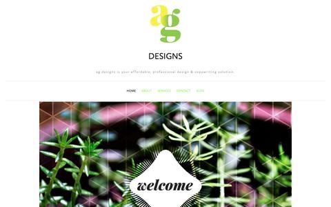 Screenshot of Home Page amygaitan.com - ag designs - captured Oct. 6, 2017
