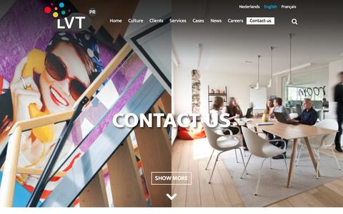 Screenshot of Contact Page lvtpr.com - Get in touch with LVTPR | Benelux PR agency - captured July 10, 2017