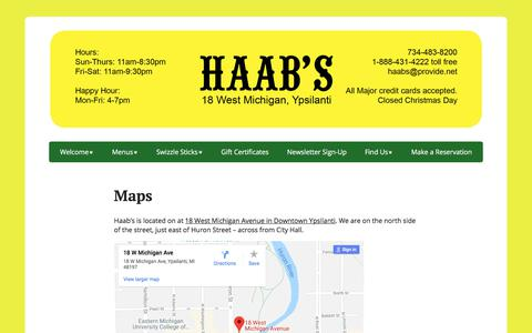 Screenshot of Maps & Directions Page haabsrestaurant.com - Maps - captured July 15, 2018