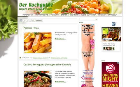 Screenshot of Home Page einfach-schnell-gesund-kochen.de - Schnell gesund kochen - in 30 Minuten - Rezepte die schmecken - captured Oct. 19, 2015