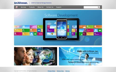 Screenshot of Home Page inxtron.com - inXtron - External Hard Drive Enclosures, RAID, NAS - captured Feb. 11, 2016