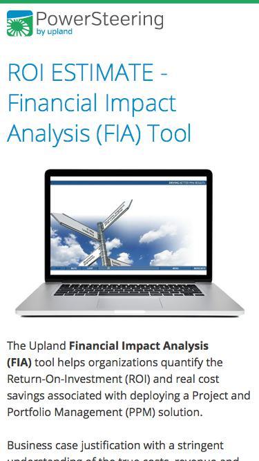 ROI Estimate - Financial Impact Analysis (FIA) Tool