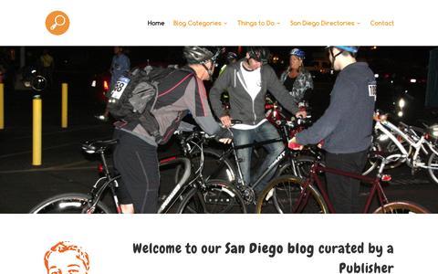 Screenshot of Home Page san-diego-culture.com - San Diego Blog - captured Feb. 10, 2016