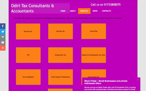 Screenshot of Services Page odiritaxconsultants.com - Odiri Tax Consultants : Services - captured Nov. 28, 2016