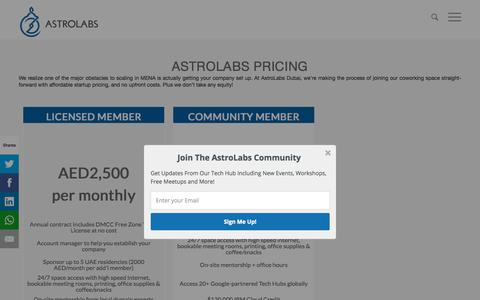 Screenshot of Pricing Page astrolabs.com - Membership Pricing - AstroLabs - captured Nov. 21, 2017