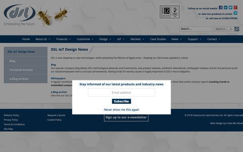 Screenshot of Press Page dsl-ltd.co.uk - DSL Ltd IoT Design News, Blog & Technical Articles DSL Ltd - captured Oct. 7, 2018