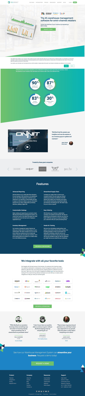 Screenshot of skuvault.com - SkuVault Inventory & Warehouse Management System - captured June 15, 2018