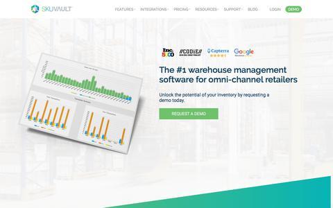 Screenshot of Home Page skuvault.com - SkuVault Inventory & Warehouse Management System - captured June 15, 2018