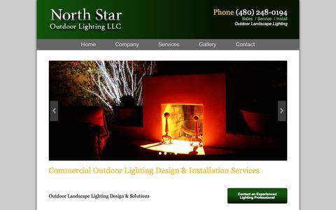 Screenshot of Services Page northstaroutdoorlightingaz.com - Outdoor Landscape Lighting Design & Solutions | North Star Outdoor Lighting LLC - captured Oct. 18, 2018