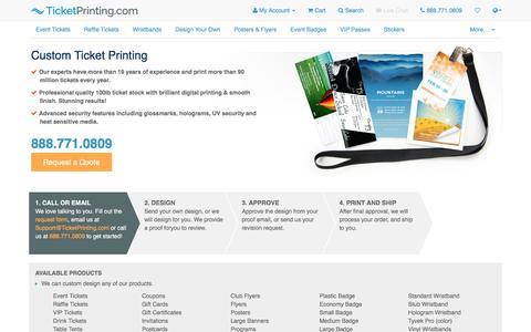 Screenshot of Services Page ticketprinting.com - Custom Event Ticket & Raffle Ticket printing | TicketPrinting.com - captured Sept. 5, 2016