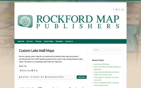 Screenshot of Blog rockfordmap.com - Rockford Map Publishers Blog - Parcel Data, GIS Files & Plat Maps - captured Dec. 3, 2016