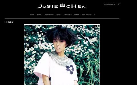 Screenshot of Press Page josiechenrange.com - Press - Josie Chen Range - captured Aug. 7, 2016