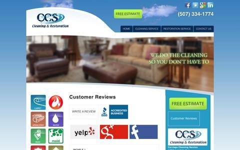 Screenshot of Testimonials Page carriagecleaning.com - Carriage Cleaning > Contact Us > Testimonials - captured Oct. 5, 2016