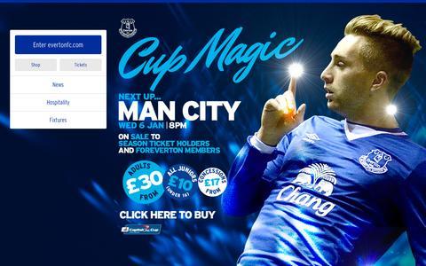 Screenshot of Home Page evertonfc.com - Home   Everton Football Club - captured Dec. 16, 2015