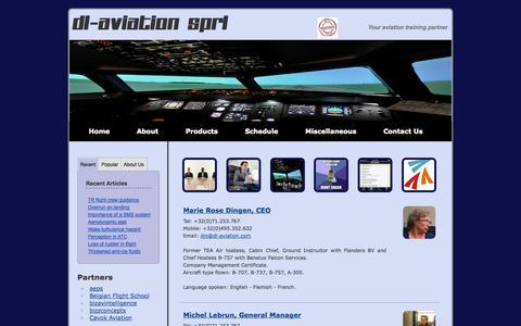 Screenshot of Team Page dl-aviation.com - Our team - captured Sept. 30, 2014