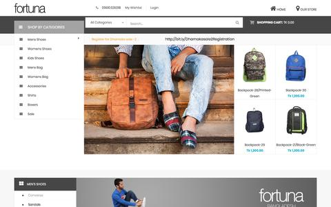Screenshot of Home Page fortunabangladesh.com - Online Shoe Shopping, Leather Bag Sale - fortunabangladesh.com - captured Oct. 31, 2017