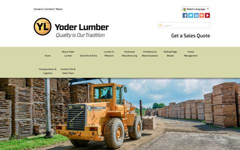 Screenshot of Jobs Page yoderlumber.com - Careers | Join the Yoder Lumber Team - captured Feb. 17, 2016
