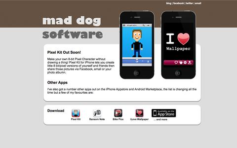 Screenshot of Home Page mad-dog-software.com - Mad Dog Software | iPhone, Android and Web Solutions - captured Sept. 30, 2014