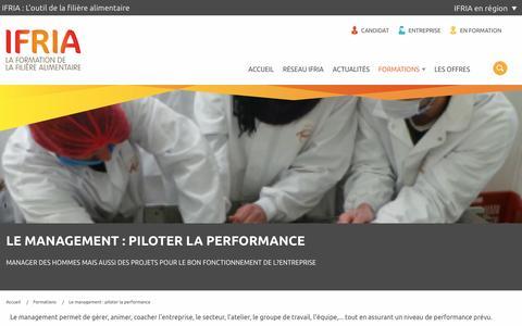 Screenshot of Team Page ifria.fr - Les métiers du management - captured June 28, 2016