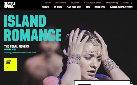 Screenshot of Home Page seattleopera.org - Seattle Opera - Seattle Opera Home - captured Oct. 1, 2015