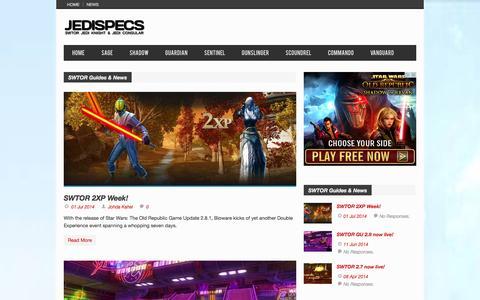 Screenshot of Press Page jedispecs.com - SWTOR Guides & News | JediSpecs - captured Nov. 4, 2014