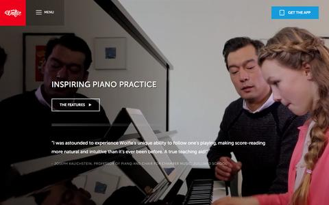 Screenshot of Maps & Directions Page tonara.com - Wolfie for piano app - Tonara and Wolfie for Piano - captured Jan. 30, 2016