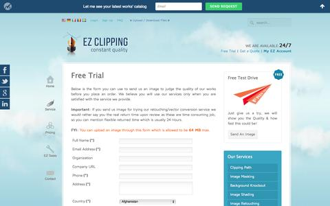 Screenshot of Trial Page ezclipping.com - EZ Free Trial - captured Sept. 27, 2014