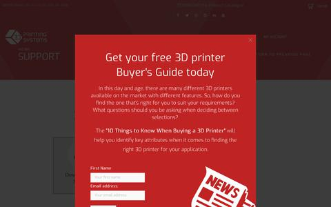 Screenshot of Support Page 3dprinting.com.au - 3D Printer Support - 3D Printing Systems - Local NZ Support - captured Dec. 20, 2018