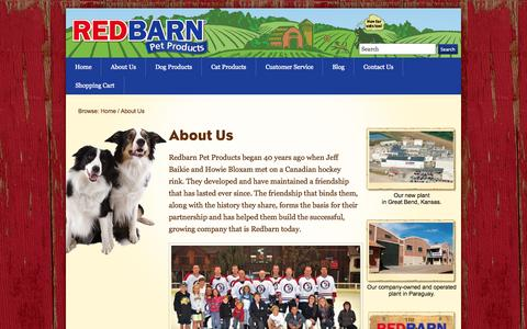 Screenshot of About Page redbarninc.com - Redbarn - Pet Product Manufacturer - Redbarn Pet Products - captured Oct. 26, 2014
