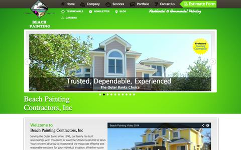 Screenshot of Home Page beachpainting.com - Beach Painting   Outer Banks NC - captured Oct. 5, 2014