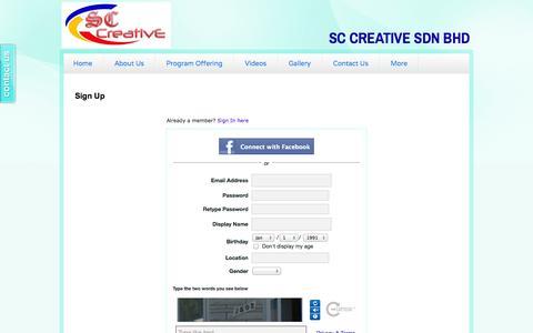 Screenshot of Signup Page sayacemerlang.com - Signup - captured Oct. 3, 2014