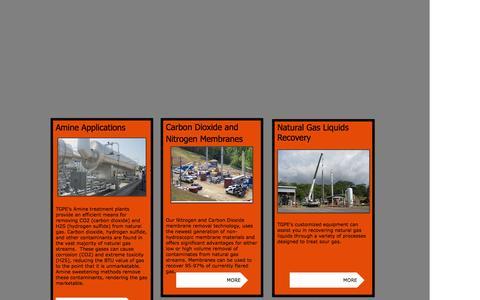 Screenshot of Home Page tuckergas.com - Tucker Gas Processing Equipment - captured Feb. 16, 2016